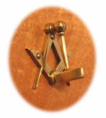 Photograph of Square and Compasses door knocker