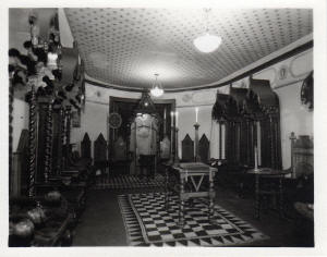 The old Lodge room of Antient Union Lodge 13