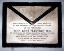 Photograph of Memorial Tablet to John Burr Fletcher