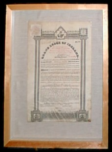Photograph of the Warrant of Lodge 311